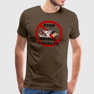 Stop 3dogs stop small - Men's Premium T-Shirt