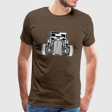 Hot Rod / Rat Rod 07_black white - Men's Premium T-Shirt