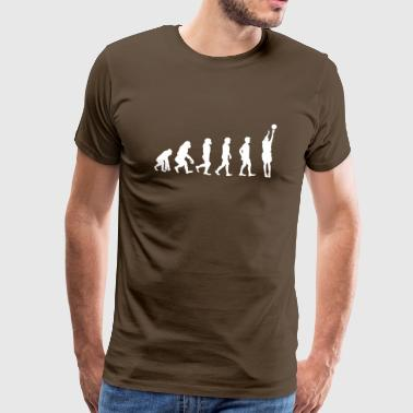 The Evolution of Basketball Player - Männer Premium T-Shirt