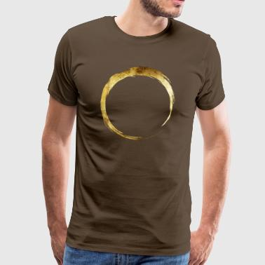 Yoga OM Ring Gold - Men's Premium T-Shirt