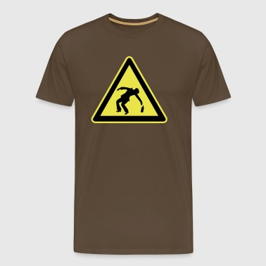 Caution Drunk - Mannen Premium T-shirt