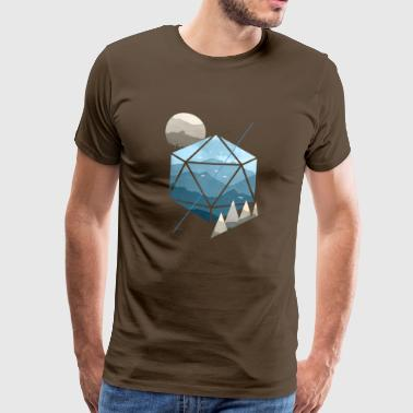 Dungeons & Dragons (Dnd) Watercolour D20 - Men's Premium T-Shirt