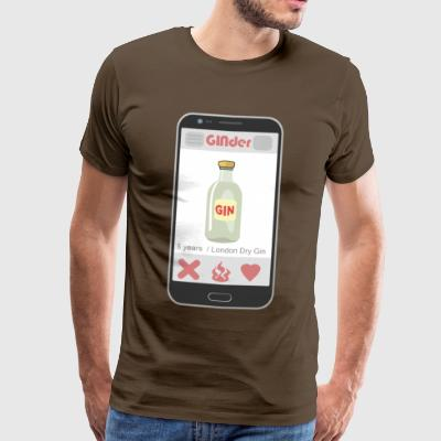 GINder Dating in a different way ;-) - Men's Premium T-Shirt