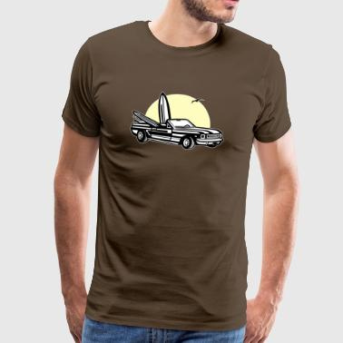 Muscle Car Sunset 01_dreifarbig - T-shirt Premium Homme