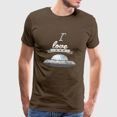 I love spaceships astronaut gift - Men's Premium T-Shirt