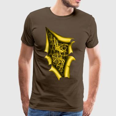 Clockwork Steampunk copper - Men's Premium T-Shirt