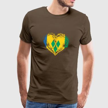 HOME ROOTS COUNTRY LOVE GIFT St Vincent - Männer Premium T-Shirt