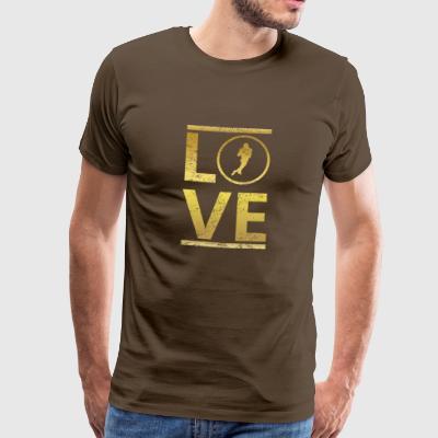 love calling profi king champion football touchdown - Men's Premium T-Shirt