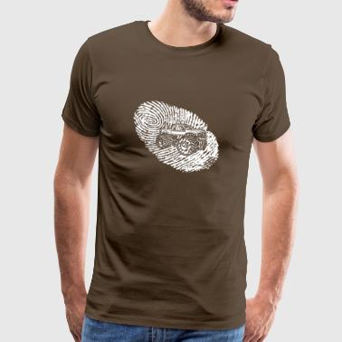 fingerprint dna dns gift big foot monster tr - Men's Premium T-Shirt