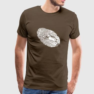 fingerprint dna dns gift biker bike biker - Men's Premium T-Shirt