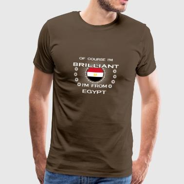 I AM GENIUS CLEVER BRILLIANT EGYPT - Männer Premium T-Shirt