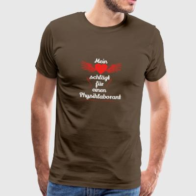 gift heart beats girlfriend Physics lab technician - Men's Premium T-Shirt