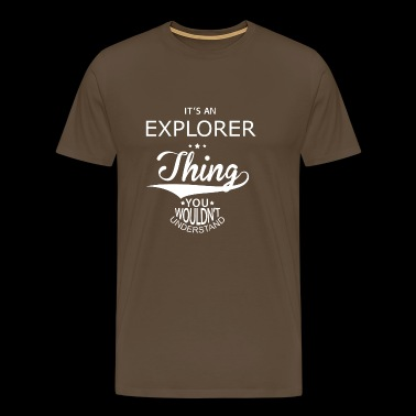 Explorer - Premium T-skjorte for menn