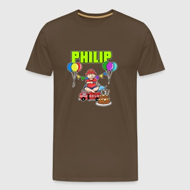 Fire Department Philip Gift - Men's Premium T-Shirt