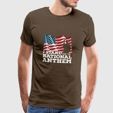 Nationalsang USA stolthed gave jul - Herre premium T-shirt