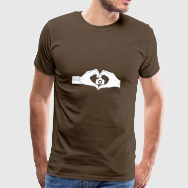 Heart hands photo - Men's Premium T-Shirt