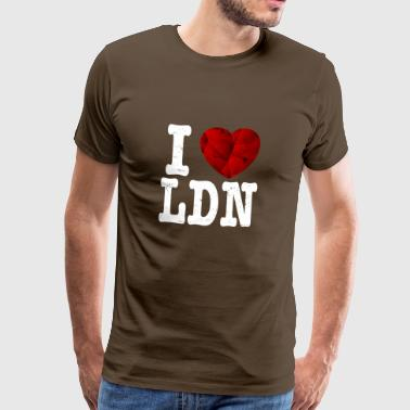 I love my london t shirt gift heart love - Men's Premium T-Shirt