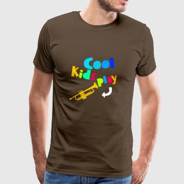 Cool Kids Play Trumpet - Premium-T-shirt herr