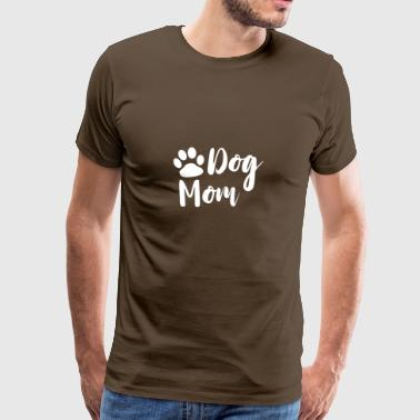 Dog Mom with paw in white as a gift - Men's Premium T-Shirt