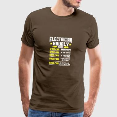 ELECTRICIAN HOURLY RATE - Men's Premium T-Shirt