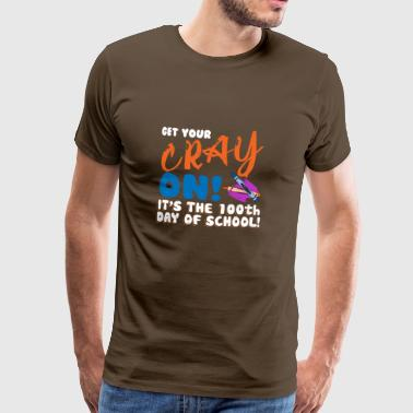 Crayon 100th Day Of Class Gift Design - Men's Premium T-Shirt