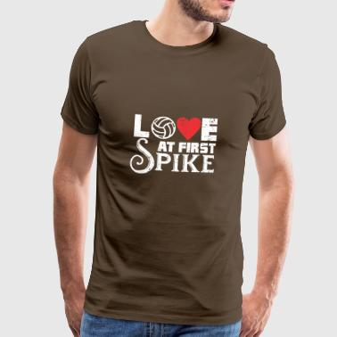 LOVE AT FIRST SPIKE - Männer Premium T-Shirt