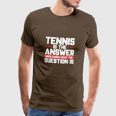 TENNISBALL TENNIS NETWORK TENNIS: IS THE ANSWER - Men's Premium T-Shirt