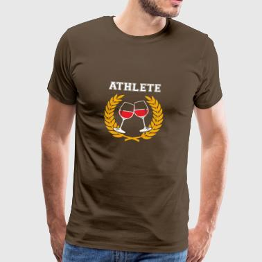 Funny Wine Athlete T-shirt - Men's Premium T-Shirt