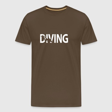 DIVING. - Männer Premium T-Shirt