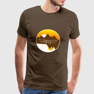 Travel as much as you can as far as you can - Men's Premium T-Shirt