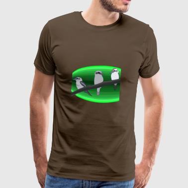 3 birds green - Men's Premium T-Shirt