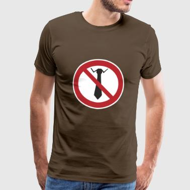 Ties prohibited - Men's Premium T-Shirt