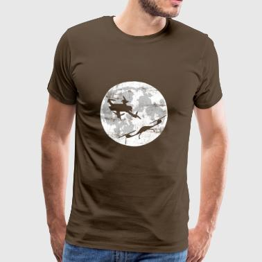 Romantic date before the moon real drone love - Men's Premium T-Shirt