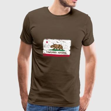 California vintage flag - Men's Premium T-Shirt