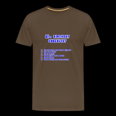 21st blue - Men's Premium T-Shirt