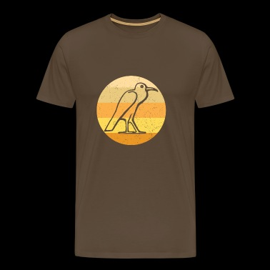 Egyptisk Bird Retro - Premium T-skjorte for menn