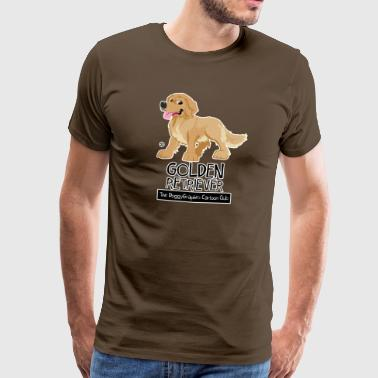 Golden Retriever CartoonClub - Camiseta premium hombre