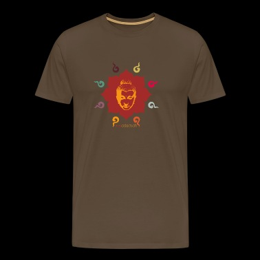 Lotus Buddha Good Luck - Premium-T-shirt herr