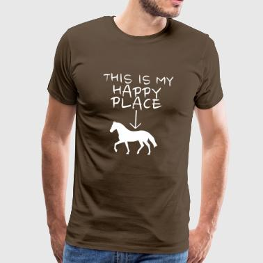 Happy Place on the horse - Men's Premium T-Shirt