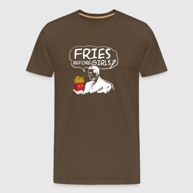 French fries and men fries - Men's Premium T-Shirt
