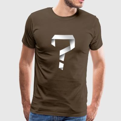 Twisted Question Mark - Premium T-skjorte for menn