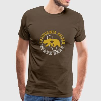 Californië Golden State Bear - Mannen Premium T-shirt
