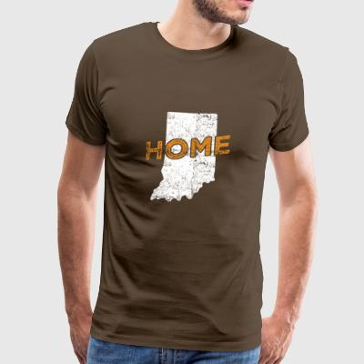 Indiana Distressed Hjem - Herre premium T-shirt