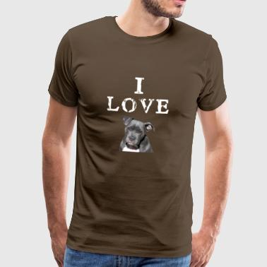 I love my dog - Mannen Premium T-shirt