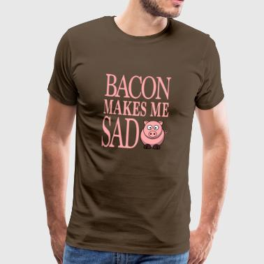 morsom vegetarianer vegan gave - BACON GIR - Premium T-skjorte for menn