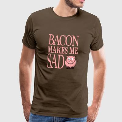 lustiges Vegetarier Veganer Geschenk - BACON MAKES - Männer Premium T-Shirt