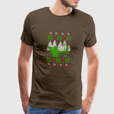 bow hunting ugly christmas jumper - Men's Premium T-Shirt