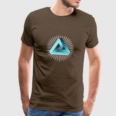 illusion illuminati triangle pyramid nerd math - Men's Premium T-Shirt