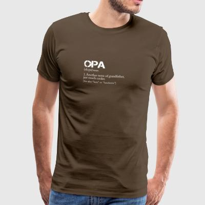 OPA definition like a normal just cooler! - Men's Premium T-Shirt