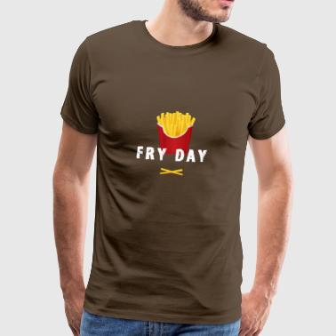 pommes gros fast food french fries freitag nerd LO - Männer Premium T-Shirt